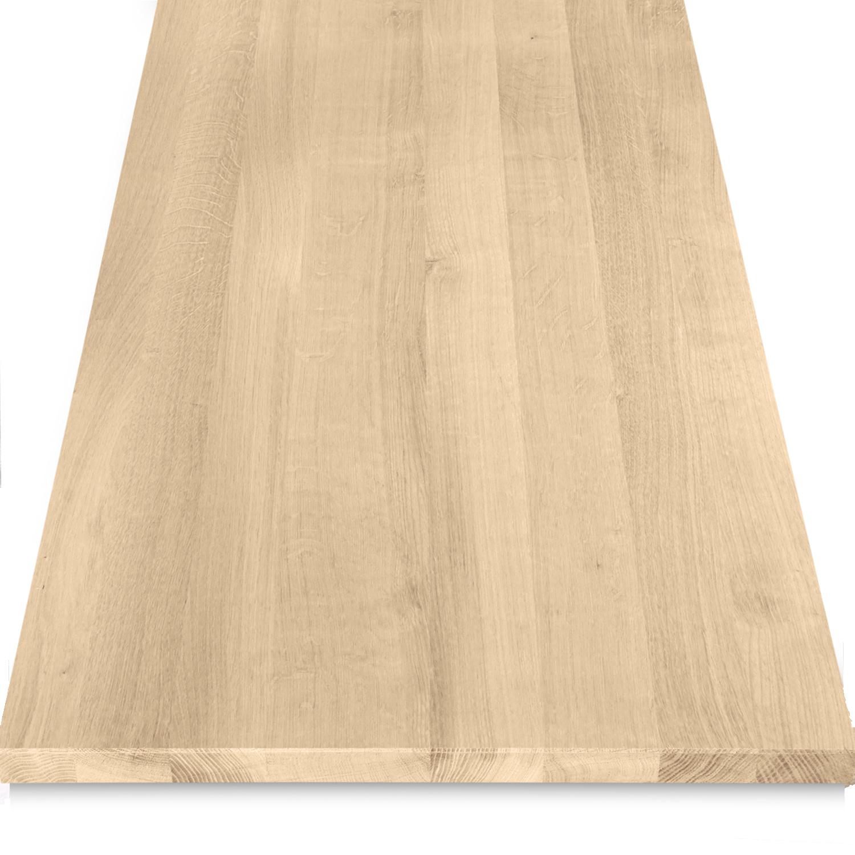 Leimholzplatte Eiche nach Maß - 2 cm dick - Eichenholz A-Qualität- Eiche Massivholzplatte - verleimt & künstlich getrocknet (HF 8-12%) - 15-120x20-350 cm