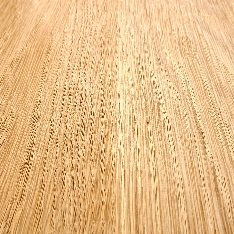 Tischplatte Eiche - mit Baumkante (Optik) - nach Maß - 4 cm dick(2-lagig) - Eichenholz A-Qualität - Eiche Tischplatte massiv mit natürlichen Baumkant - verleimt & künstlich getrocknet (HF 8-12%) - 50-120x50-350 cm - Gebürstet