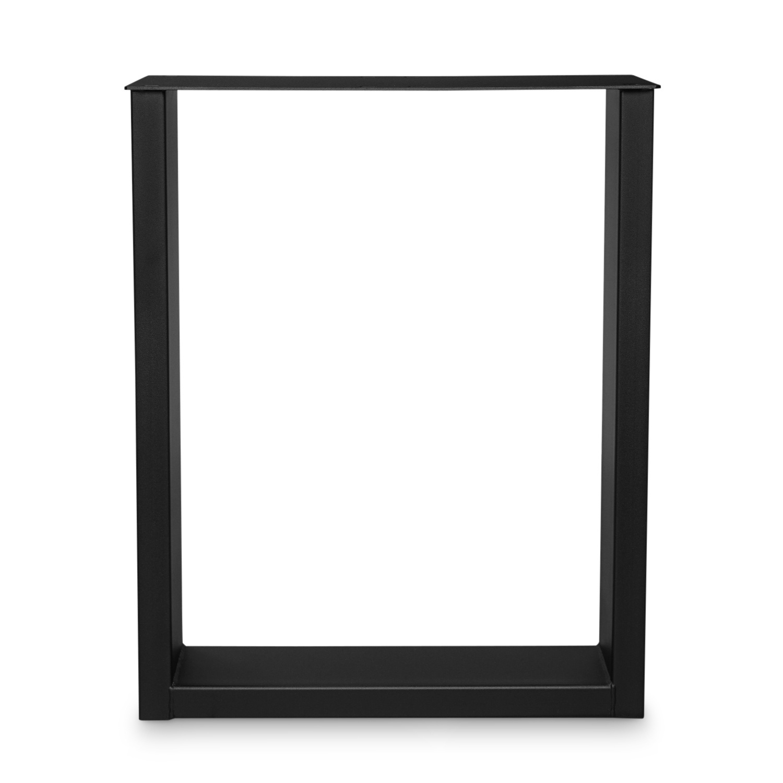 Schreibtischbeine U Metall elegant SET (2 Stück) - Bürotisch / Schreibtisch Beine / Füße - 10x4 cm - 60 cm breit - 72 cm hoch - U-form Schreibtisch Gestell beschichtet - Schwarz