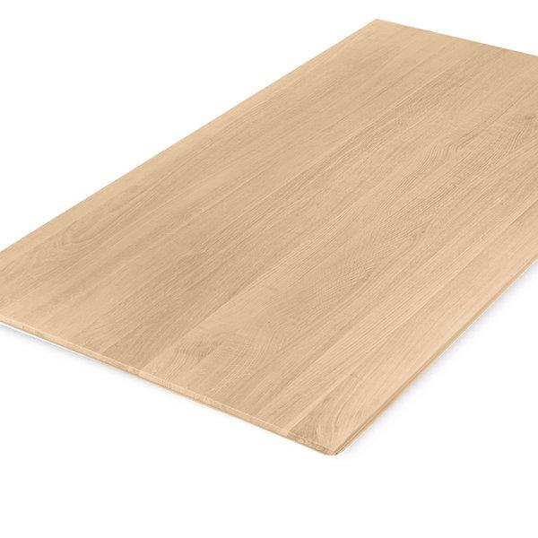 Tischplatte Eiche - Schweizer Kante - nach Maß - 4 cm dick - Eichenholz A-Qualität  - Gebürstet