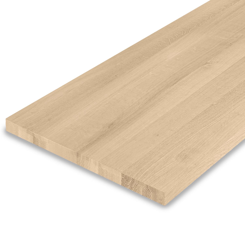 Leimholzplatte Eiche nach Maß - 3 cm dick - Eichenholz A-Qualität- Gebürstet - Eiche Massivholzplatte - verleimt & künstlich getrocknet (HF 8-12%) - 15-120x20-350 cm
