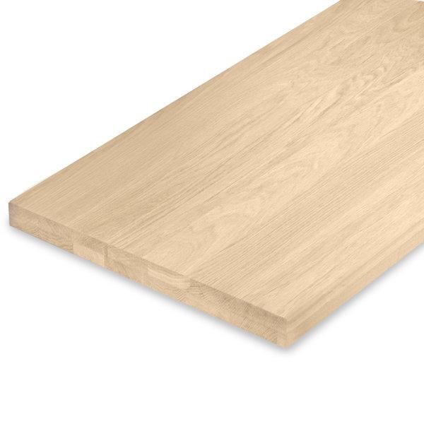Leimholzplatte Eiche nach Maß - 4 cm dick (2-lagig) - Eichenholz A-Qualität - Gebürstet