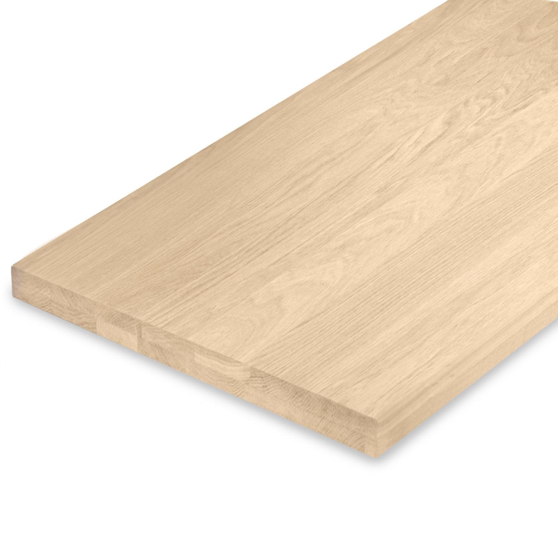 Leimholzplatte Eiche nach Maß - 4 cm dick (2-lagig) - Eichenholz A-Qualität- Gebürstet - Eiche Massivholzplatte - verleimt & künstlich getrocknet (HF 8-12%) - 15-120x20-350 cm