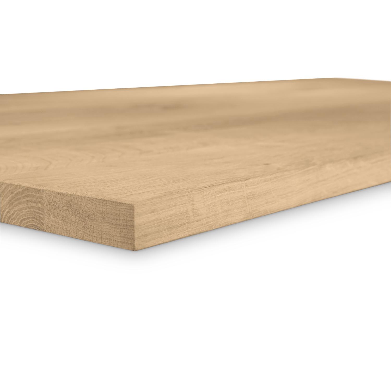 Tischplatte Eiche nach Maß - 3 cm dick - Eichenholz rustikal - Eiche Tischplatte massiv - verleimt & künstlich getrocknet (HF 8-12%) - 50-120x50-350 cm