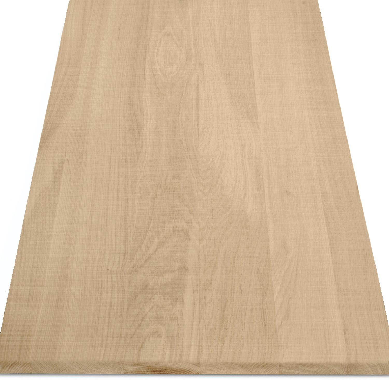 Leimholzplatte Eiche nach Maß - 2 cm dick  - Eichenholz A-Qualität - Sägerau Optik - Eiche Massivholzplatte - verleimt & künstlich getrocknet (HF 8-12%) - 15-120x20-300 cm
