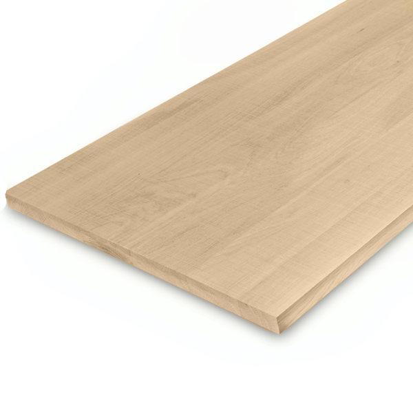 Leimholzplatte Eiche nach Maß - 2 cm dick - Eichenholz A-Qualität - Sägerau Optik