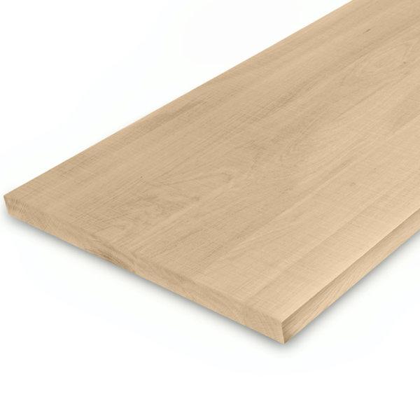 Leimholzplatte Eiche nach Maß - 3 cm dick - Eichenholz A-Qualität - Sägerau Optik