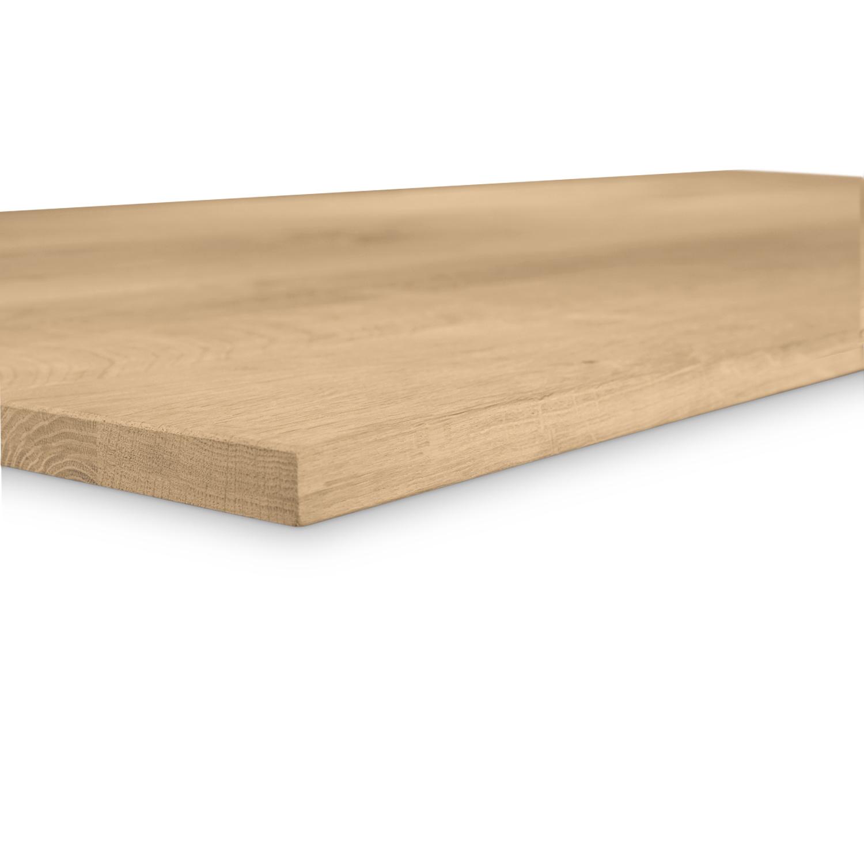 Tischplatte Eiche nach Maß - 2 cm dick - Eichenholz rustikal - Gebürstet - Eiche Tischplatte massiv - verleimt & künstlich getrocknet (HF 8-12%) - 50-120x50-350 cm