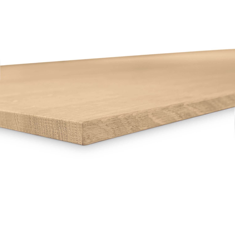 Tischplatte Eiche nach Maß - 2 cm dick - Eichenholz A-Qualität - Eiche Tischplatte massiv - verleimt & künstlich getrocknet (HF 8-12%) - 50-120x50-350 cm