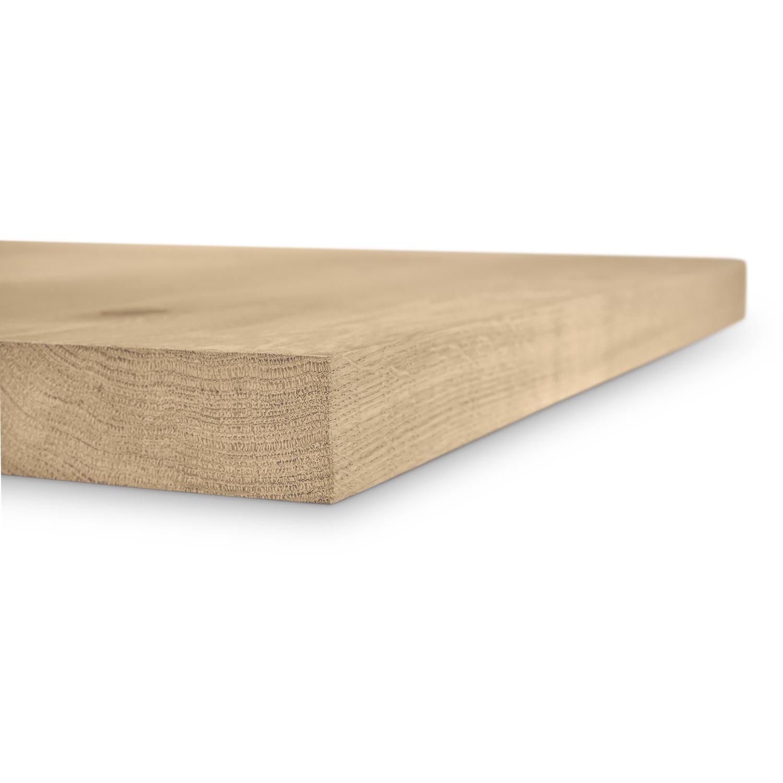 Tischplatte Wildeiche (Bistro) - viereckig - 4 cm dick - verschiedene Größen - Asteiche (rustikal) - Eiche Tischplatte - Verleimt & künstlich getrocknet (HF 8-12%) - Optional Gebürstet mit V-Fuge