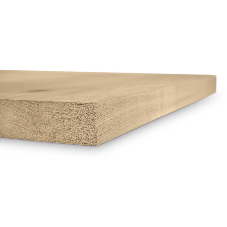 Tischplatte Wildeiche - viereckig - 4 cm dick - verschiedene Größen - Asteiche (rustikal) - Eiche Tischplatte - Verleimt & künstlich getrocknet (HF 8-12%)