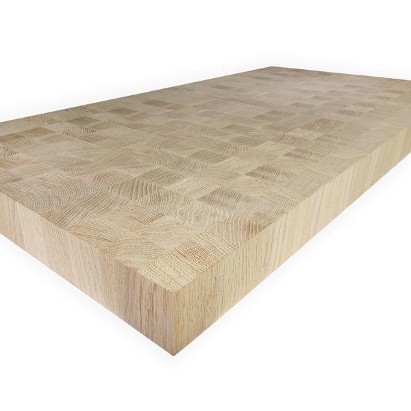Leimholzplatte Eiche blockverleimt nach Maß - 43x46 mm - 6 cm dick - Eichenholz A-Qualität