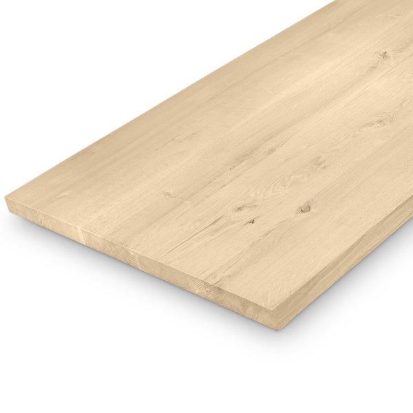 (Tisch)platte Eiche nach Maß - 4 cm dick (1-Schicht) - Breite Lamellen (min. 10 cm) - Eichenholz rustikal