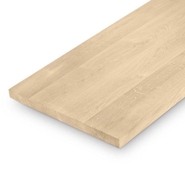 (Tisch)platte Eiche nach Maß - 4 cm dick (1-Schicht) - Extra Breite Lamellen (min. 15 cm) - Eichenholz A-Qualität - gebürstet