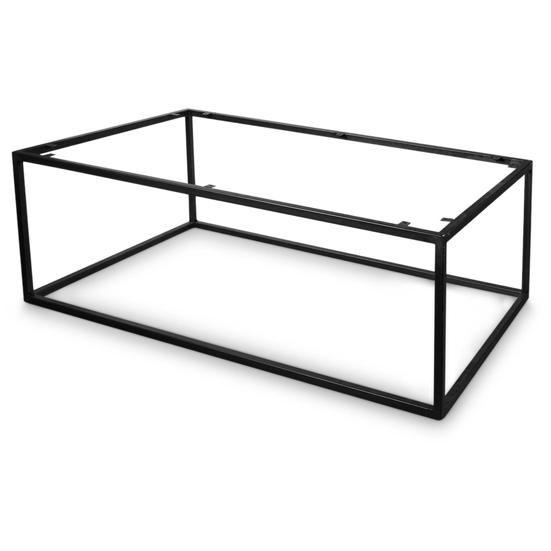Couchtisch Frame Gestell Metall - Rechteck  - verschiedene Größen - 38 cm hoch - Stahl Couchtisch Tischgestell - Transparant beschichtet