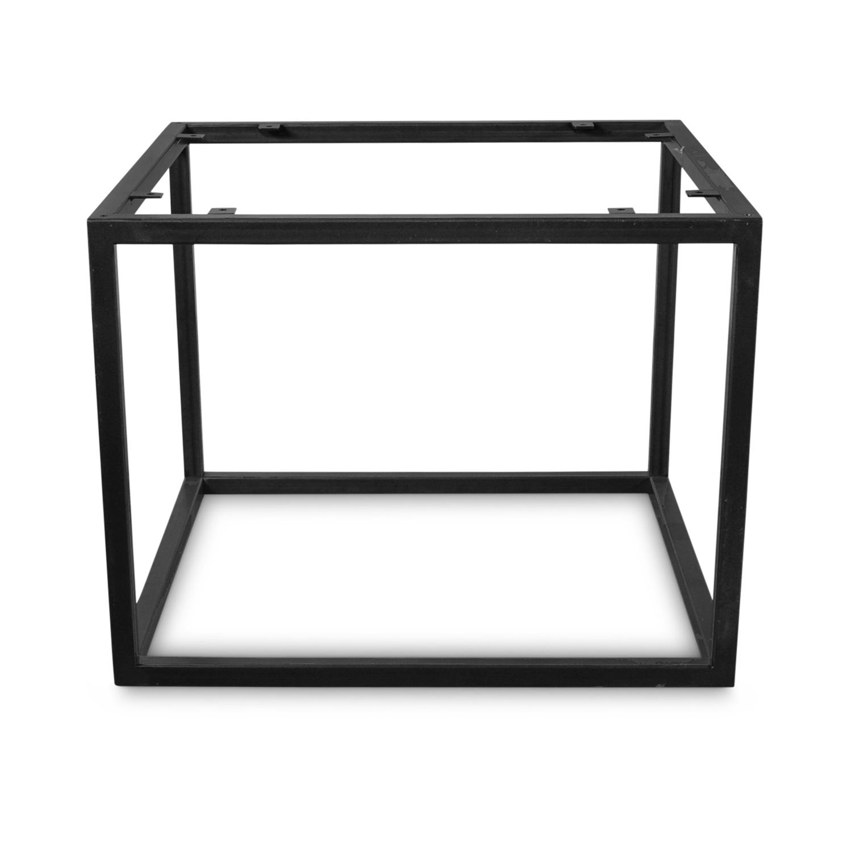 Couchtisch Frame Gestell Metall - Viereck  - verschiedene Größen - 38 cm hoch - Stahl Couchtisch Tischgestell - Transparant beschichtet