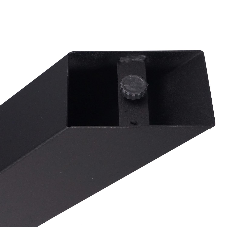 Tischgestell Metall Spider - 3-Teilig - 8x8 cm - 90x140 cm - 72cm hoch - Stahl Tischuntergestell / Mittelfuß Rechteck & oval - Beschichtet - Schwarz