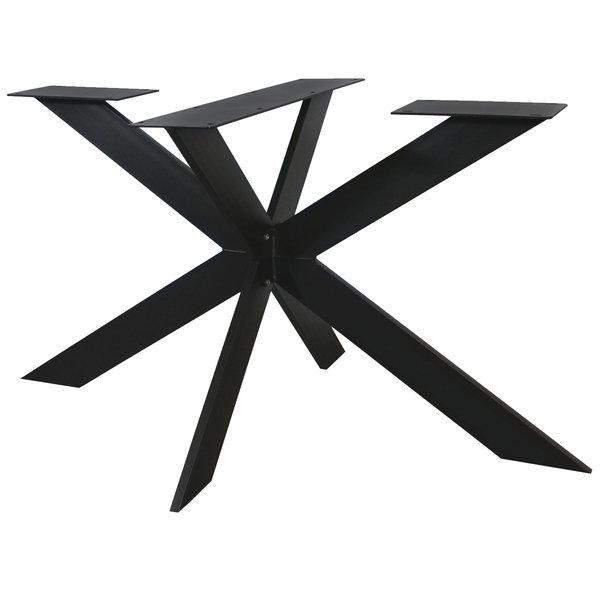 Tischgestell Metall Spider schlank - 3-Teilig - 2x10 cm - 90x140 cm - 72cm hoch
