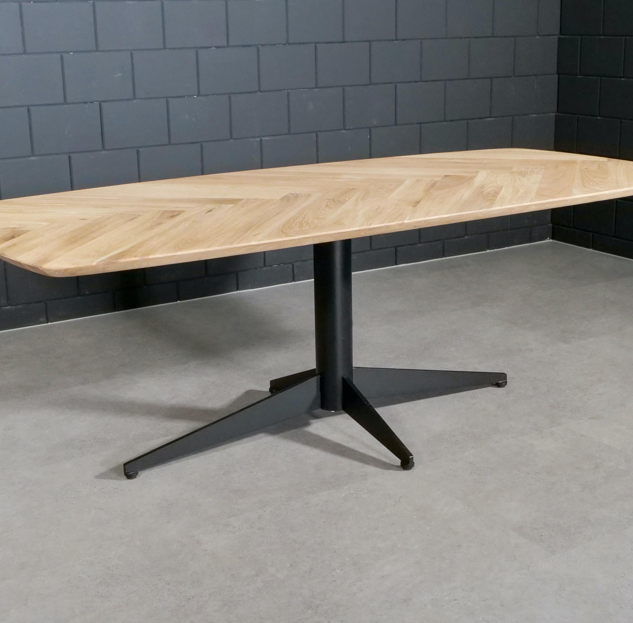 Tischgestell Metall 4-Fuß - 80x140 cm breit - 72cm hoch - Rohrprofil: 11,4 cm - Mehrteilig - Stahl Tischfuß / Mittelfuß - Rechteckig / Oval - Beschichtet - Schwarz