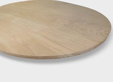 Tischplatte Eiche oval