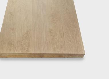 Tischplatte Eiche viereckig