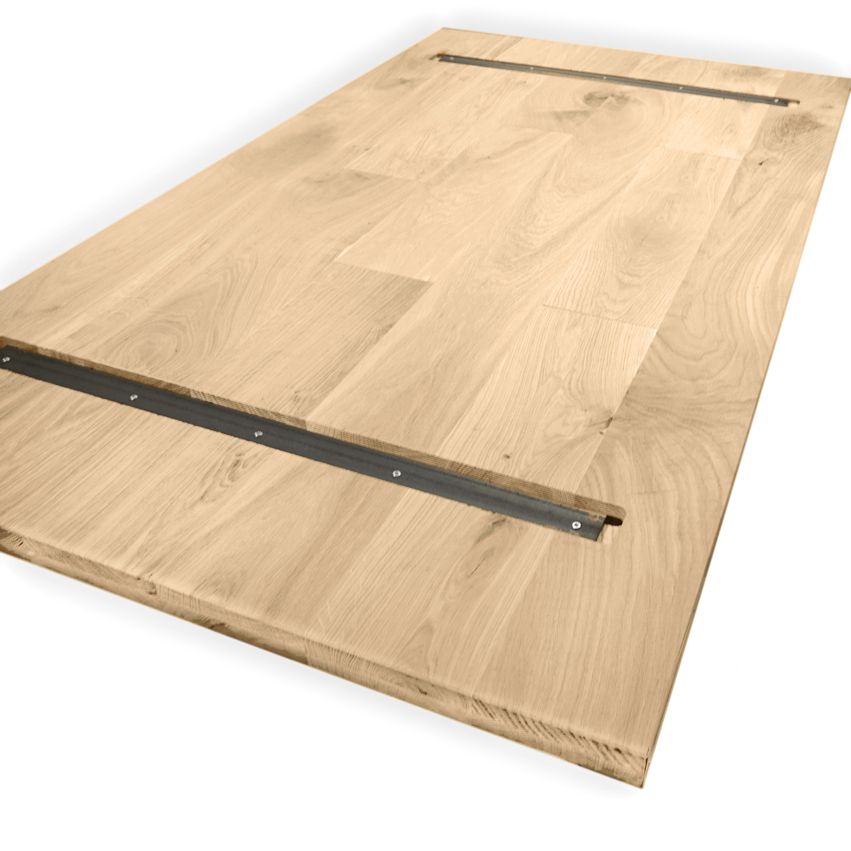 (Tisch)platte Eiche nach Maß - 4 cm dick (1-Schicht) - Breite Lamellen (min. 10 cm) - Eichenholz rustikal - Eiche massiv Holzplatte / Tischplatte - mit einer minimalen Lamellenbreite von 10 cm - verleimt & künstlich getrocknet (HF 8-12%) - 60-120x60-300 c