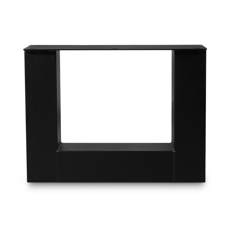 Couchtisch Beine U Metall SET (2 Stück) - 10x10 cm - 56 cm breit - 41 cm hoch - U-Form Tischbeine / Tischkufen Couchtisch - beschichtet - Schwarz