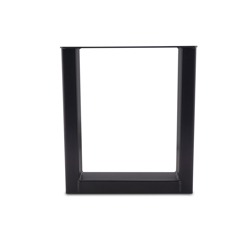 Couchtisch Beine U Metall elegant SET (2 Stück) - 10x4 cm - 56 cm breit - 41 cm hoch - U-form Tischbeinen / Tischkufen Couchtisch - beschichtet - Schwarz