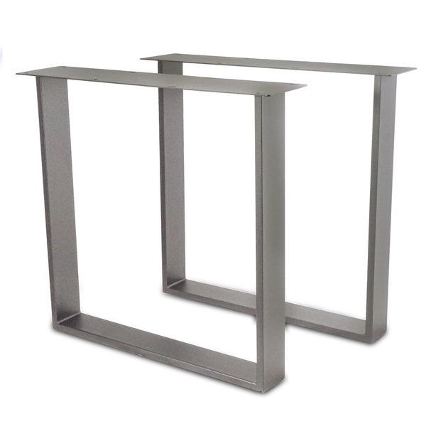 Tischbeine U Edelstahl schlank SET (2 Stück) - 2x10 cm - 78 cm breit - 72 cm hoch