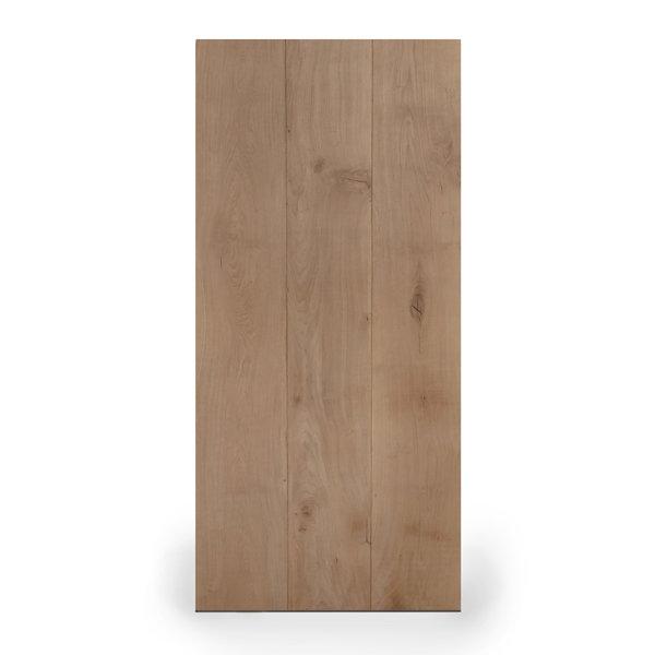 Tischplatte Wildeiche LUXUS (3 Lamellen) - 4,5 cm dick - verschiedene Größen - Wildeiche - Gebürstet + V-Fugen
