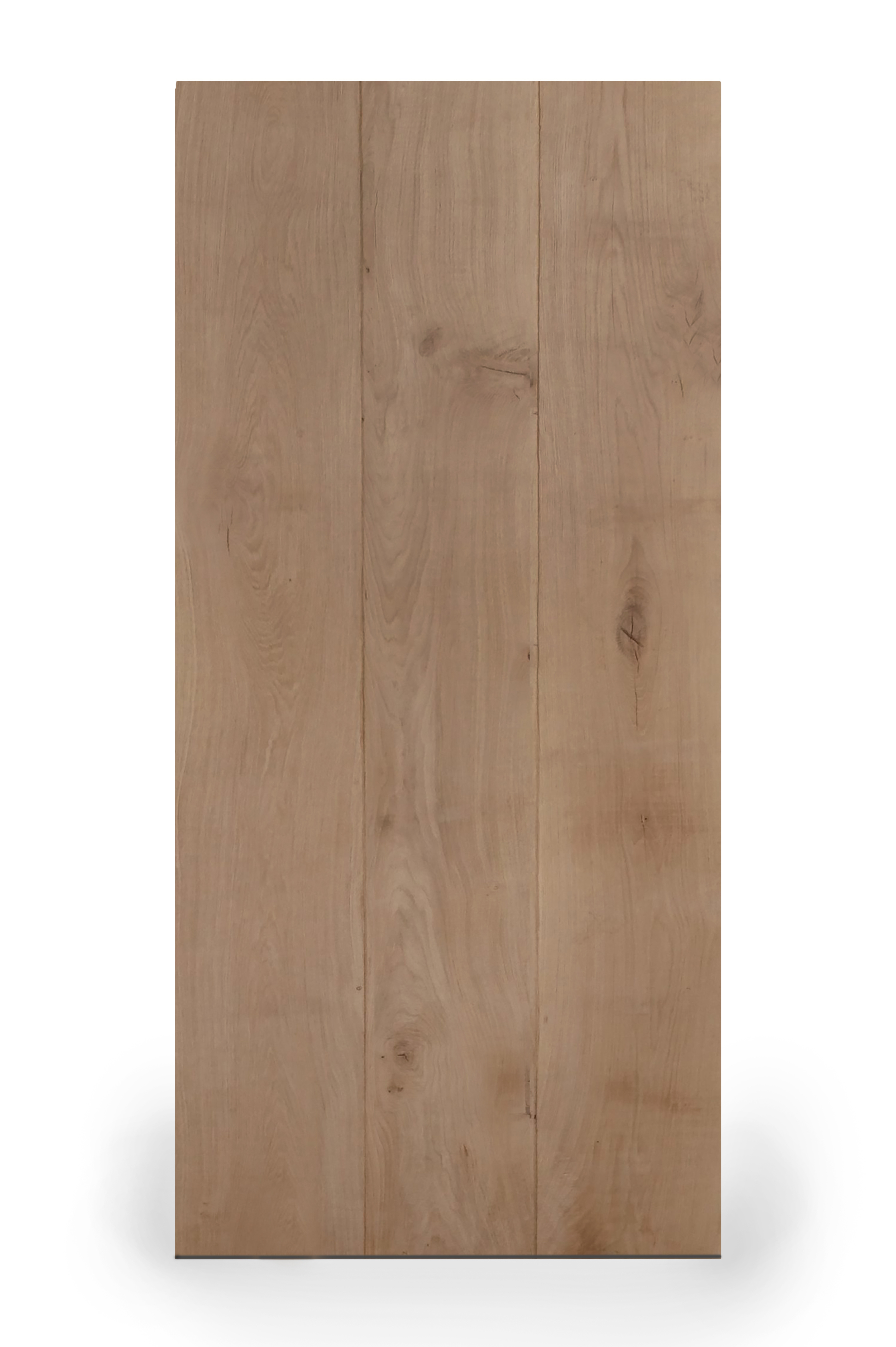 Tischplatte Wildeiche LUXUS (3-Lamellen) - 4,5 cm dick - verschiedene Größen - Asteiche (rustikal) - Gebürstet + V-Fugen - Eiche Tischplatte rechteckig - Verleimt & künstlich getrocknet (HF 8-12%)