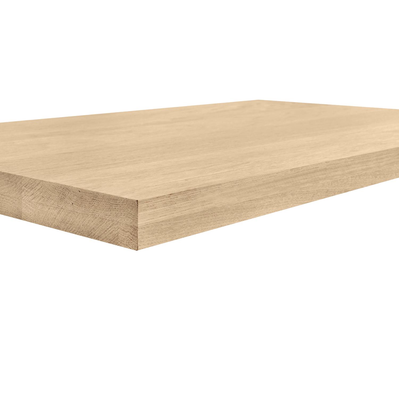 Leimholzplatte Eiche nach Maß - 4 cm dick (2-lagig) - inkl. Aussparung - Eichenholz A-Qualität- Eiche Massivholzplatte - verleimt & künstlich getrocknet (HF 8-12%) - 15-120x20-350 cm