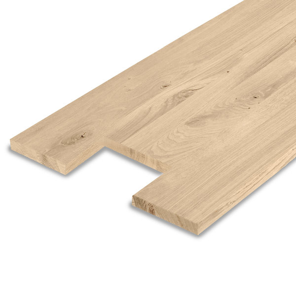 Leimholzplatte Eiche nach Maß - 2 cm dick - inkl. Aussparung - Eichenholz rustikal