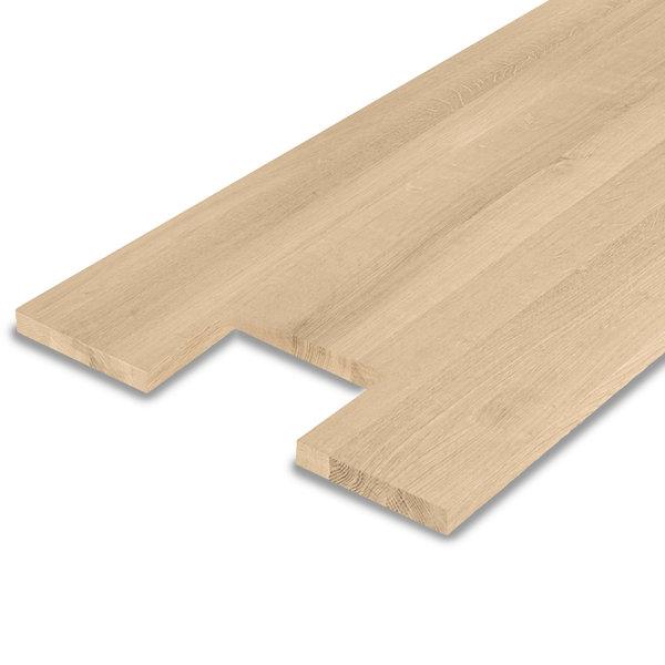 Leimholzplatte Eiche nach Maß - 2 cm dick -  inkl. Aussparung -Eichenholz A-Qualität
