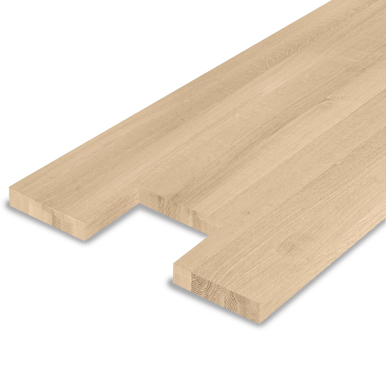 Leimholzplatte Eiche nach Maß - 3 cm dick - inkl. Aussparung -Eichenholz A-Qualität- Eiche Massivholzplatte - verleimt & künstlich getrocknet (HF 8-12%) - 15-120x20-350 cm