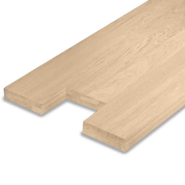 Leimholzplatte Eiche nach Maß - 4 cm dick (2-lagig) - inkl. Aussparung - Eichenholz A-Qualität