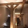 Alte Eichenbalke (gealtert) 45x90 mm - Gehobelt und gebürstet- Europäisches Eichenholz rustikal - natürlich getrocknet (HF 20-25%)