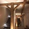 Alte Eichenbalke (gealtert) 190x190 mm - Gehobelt und gebürstet- Europäisches Eichenholz rustikal - natürlich getrocknet (HF 20-25%)