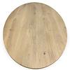 Tischplatte Wildeiche oval - 4 cm dick - Asteiche (rustikal) - Eiche Tischplatte oval massiv - Verleimt & künstlich getrocknet (HF 8-12%)