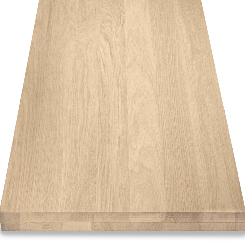 Leimholzplatte Eiche nach Maß - 6 cm dick (2-lagig) - Eichenholz A-Qualität- Gebürstet - Eiche Holzplatte - verleimt & künstlich getrocknet (HF 8-12%) - 15-120x20-300 cm