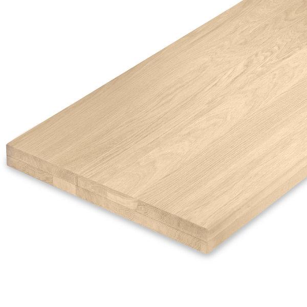Leimholzplatte Eiche nach Maß - 6 cm dick (2-lagig) - Eichenholz A-Qualität - Gebürstet