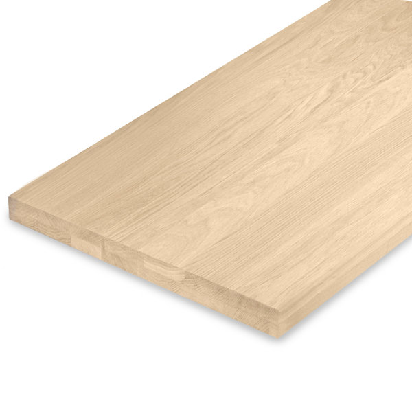 Leimholzplatte Eiche nach Maß - 5 cm dick (2-lagig) - Eichenholz A-Qualität - Gebürstet
