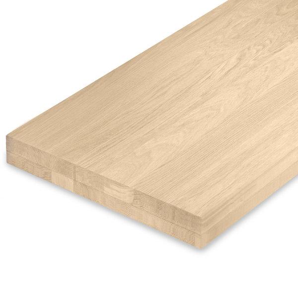 Leimholzplatte Eiche nach Maß - 8 cm dick (2-lagig) - Eichenholz A-Qualität - Gebürstet