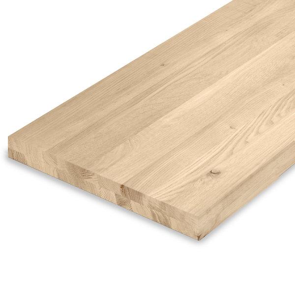 Leimholzplatte Eiche nach Maß - 5  cm dick (2-lagig) - Eichenholz rustikal