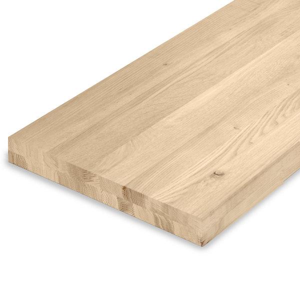 Leimholzplatte Eiche nach Maß - 6 cm dick (2-lagig) - Eichenholz rustikal