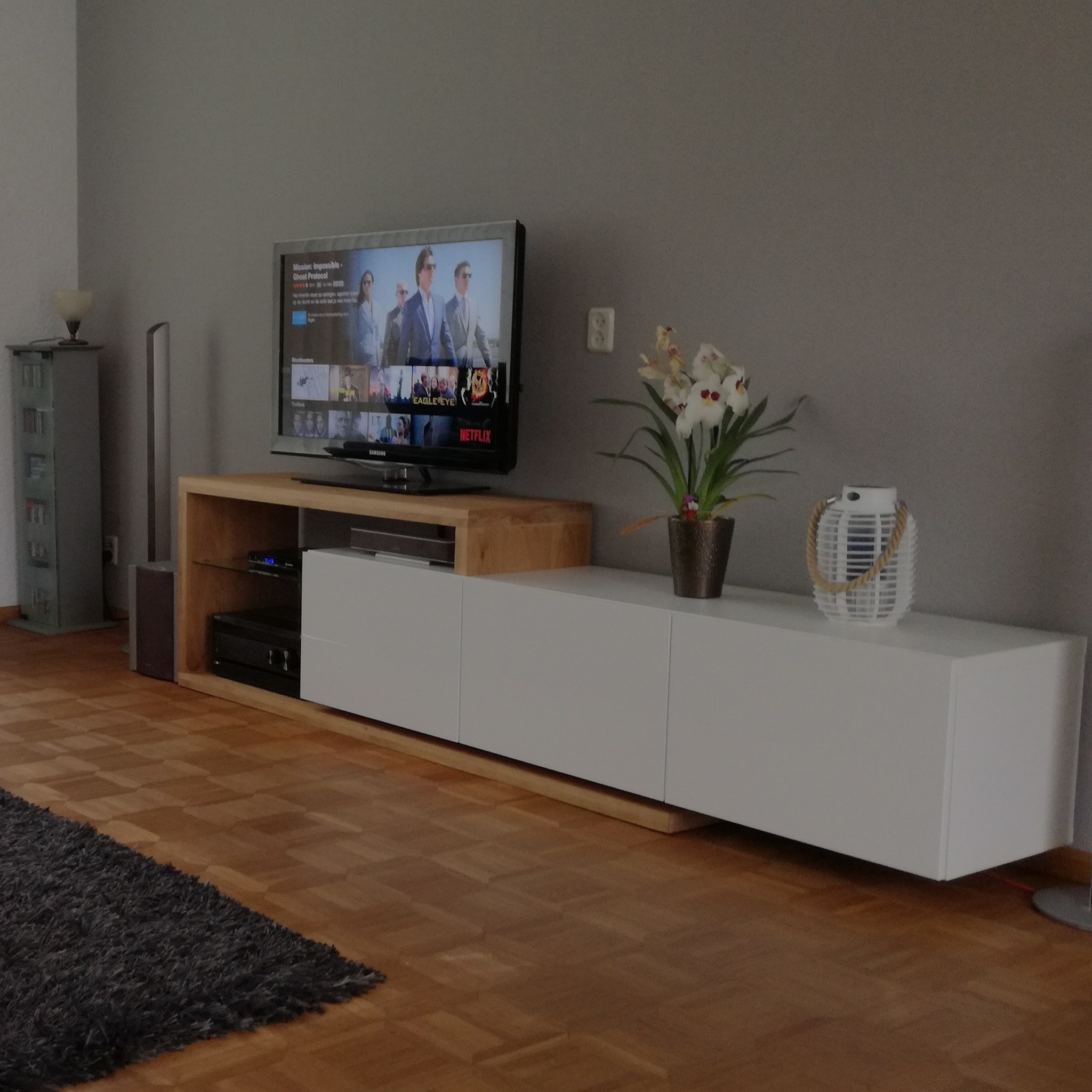 Leimholzplatte Eiche nach Maß - 6 cm dick (3-lagig) - Eichenholz rustikal - Gebürstet - Eiche Holzplatte - verleimt & künstlich getrocknet (HF 8-12%) - 15-120x20-300 cm