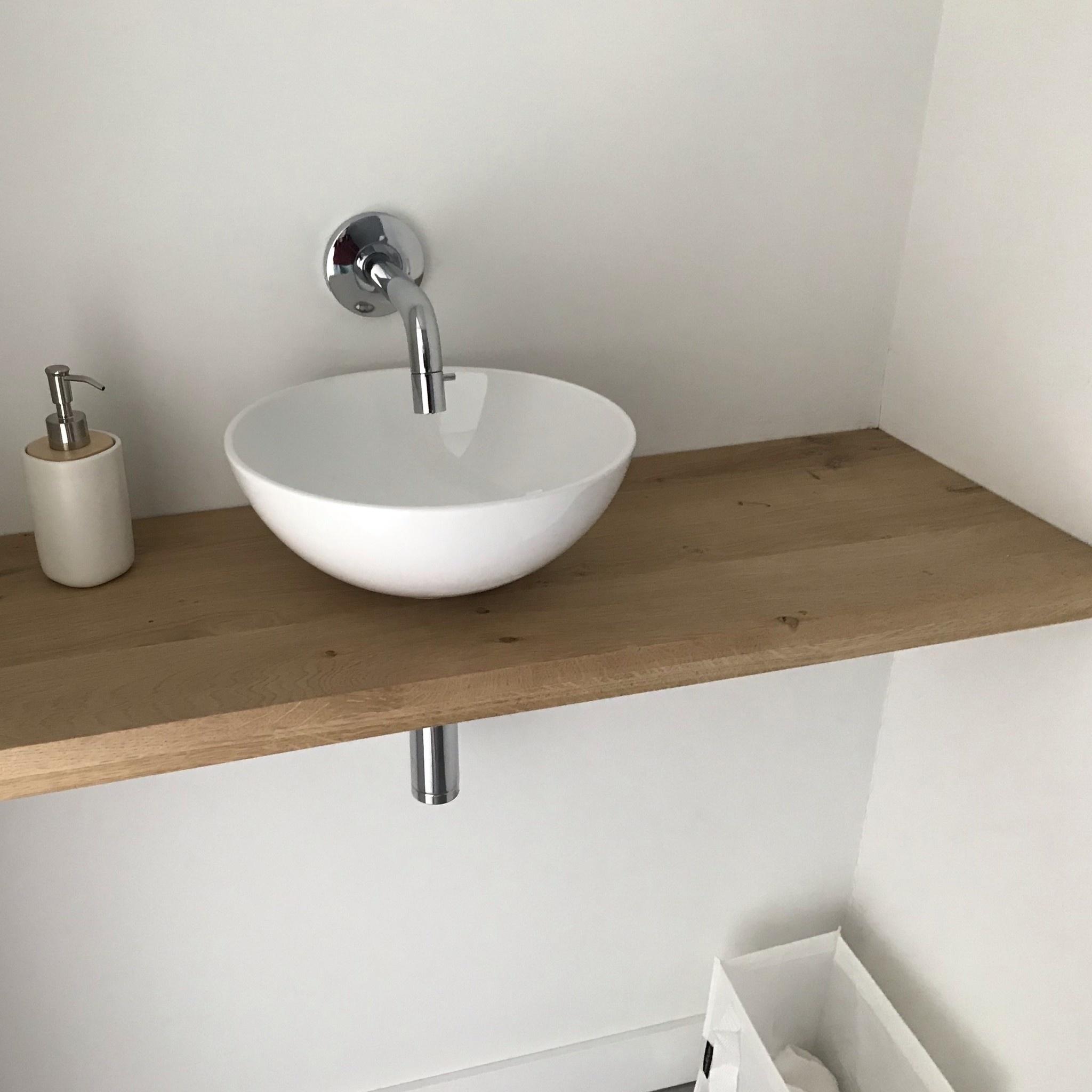 Leimholzplatte Eiche nach Maß - 6 cm dick (2-lagig) - Eichenholz rustikal - Eiche Holzplatte - verleimt & künstlich getrocknet (HF 8-12%) - 15-120x20-300 cm