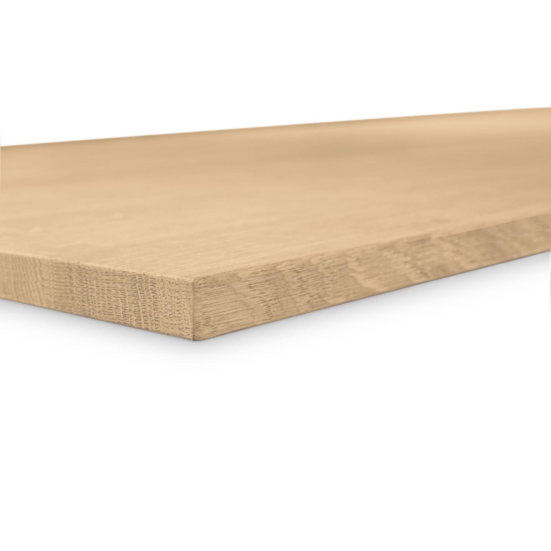 Tischplatte Eiche nach Maß - 2,5 cm dick - Eichenholz A-Qualität - Eiche Tischplatte massiv - verleimt & künstlich getrocknet (HF 8-12%) - 50-120x50-300 cm