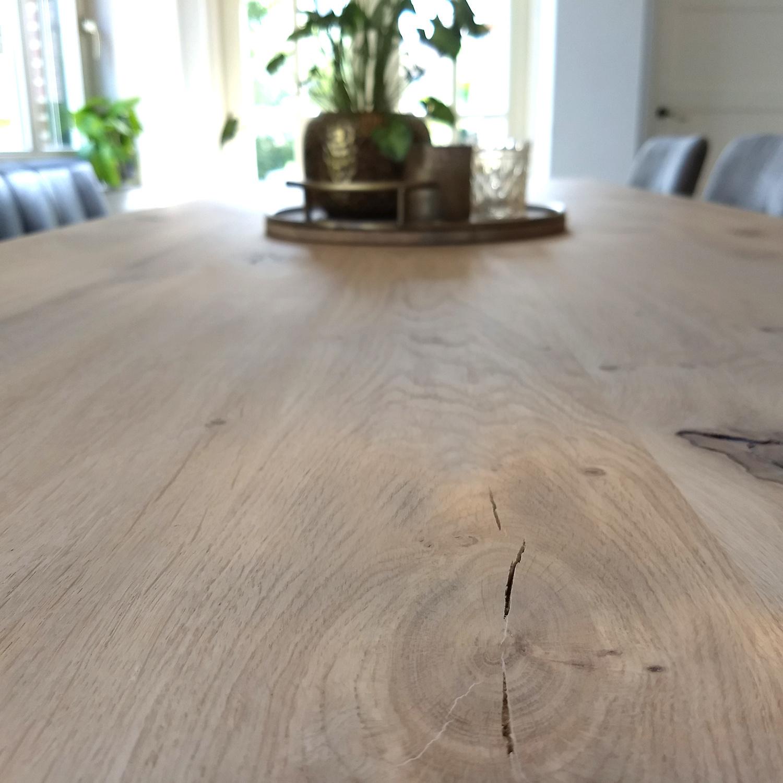 Tischplatte Eiche nach Maß - 6 cm dick (2-lagig) - Eichenholz rustikal - Eiche Tischplatte massiv - verleimt & künstlich getrocknet (HF 8-12%) - 50-120x50-300 cm