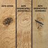 Tischplatte Eiche nach Maß - 6 cm dick (2-lagig) - Eichenholz rustikal - Gebürstet - Eiche Tischplatte massiv - verleimt & künstlich getrocknet (HF 8-12%) - 50-120x50-300 cm